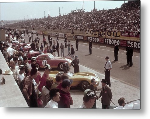 Crowd Metal Print featuring the photograph Le Mans Racing Circuit, France by Heritage Images