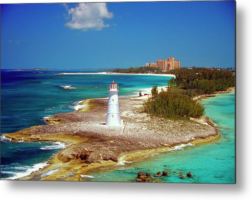 Outdoors Metal Print featuring the photograph Lighthouse On Paradise Island-nassau by Medioimages/photodisc