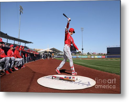 Peoria Sports Complex Metal Print featuring the photograph Los Angeles Angels Of Anaheim V San by Christian Petersen