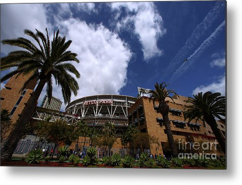 California Metal Print featuring the photograph Los Angeles Dodgers V San Diego Padres by Donald Miralle