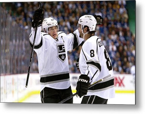 Playoffs Metal Print featuring the photograph Los Angeles Kings V Vancouver Canucks - by Rich Lam