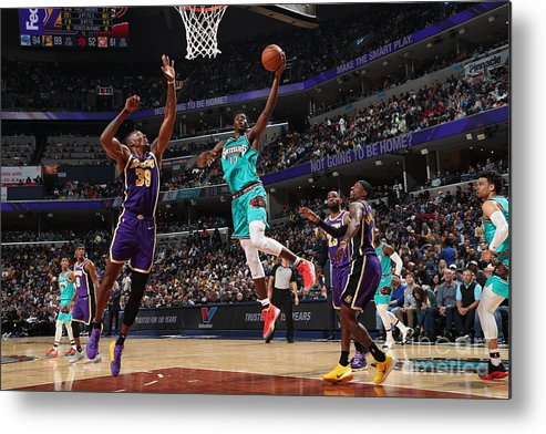 Nba Pro Basketball Metal Print featuring the photograph Los Angeles Lakers V Memphis Grizzlies by Joe Murphy