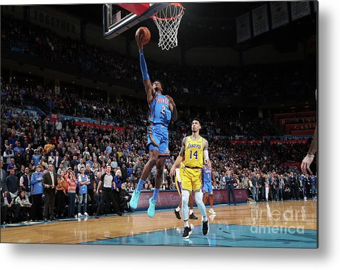 Nba Pro Basketball Metal Print featuring the photograph Los Angeles Lakers V Oklahoma City by Joe Murphy