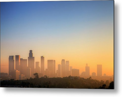 Tranquility Metal Print featuring the photograph Los Angeles Sunset by Eric Lo