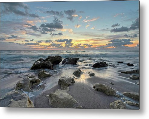 Sea Metal Print featuring the photograph Low Tide Sunrise by Steve DaPonte