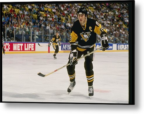People Metal Print featuring the photograph Mario Lemieux by Getty Images