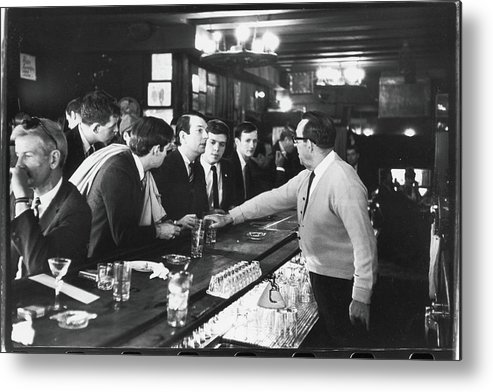 Sweater Metal Print featuring the photograph Mattachine Society Sip-in, 1966 by Fred W. McDarrah
