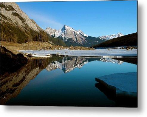 Scenics Metal Print featuring the photograph Medicine Lake, Jasper National Park by Design Pics/richard Wear