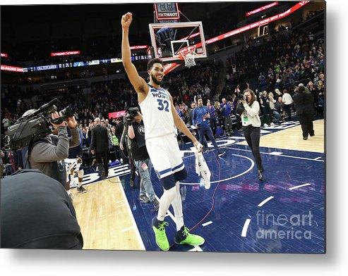 Nba Pro Basketball Metal Print featuring the photograph Memphis Grizzlies V Minnesota by David Sherman