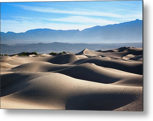 Scenics Metal Print featuring the photograph Mesquite Flat Sand Dunes by Walter Bibikow