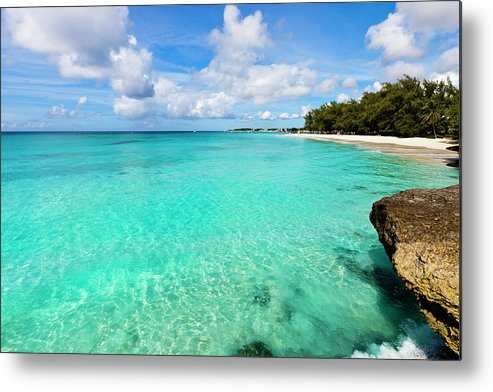 Water's Edge Metal Print featuring the photograph Miami Beach, Barbados by Flavio Vallenari