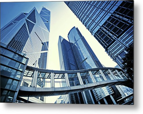 Corporate Business Metal Print featuring the photograph Modern Office Buildings by Nikada