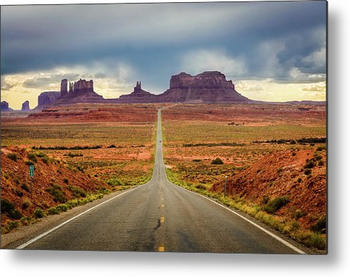 Scenics Metal Print featuring the photograph Monument Valley by Posnov