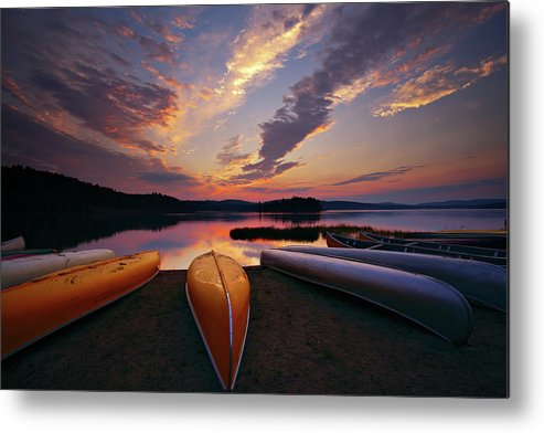 Tranquility Metal Print featuring the photograph Morning At Lake Of The Two Rivers by Henry@scenicfoto.com