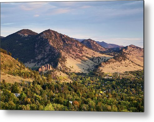 Scenics Metal Print featuring the photograph Mount Sanitas And Fall Colors In by Beklaus
