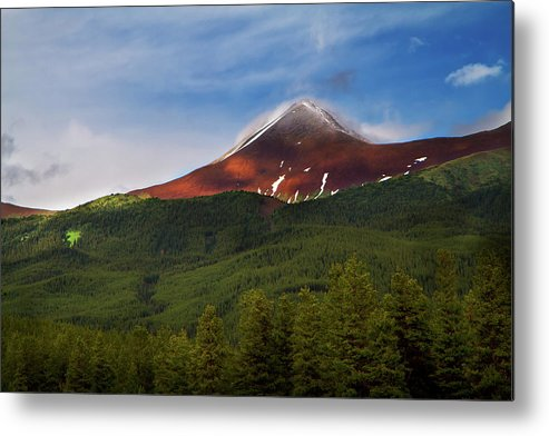 Scenics Metal Print featuring the photograph Mountain Peak - Jasper National Park by Adria Photography
