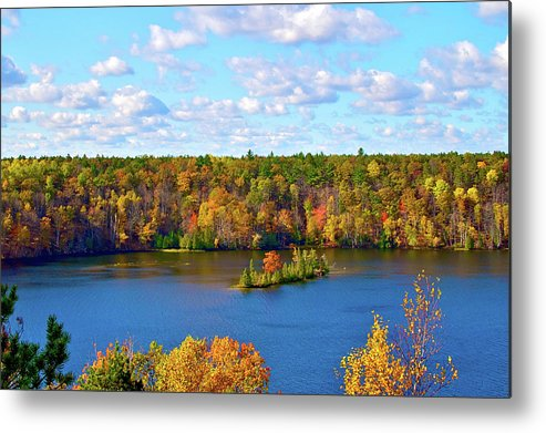 Scenics Metal Print featuring the photograph Mountain View Of Huron-manistee Forest by William Goldsmith