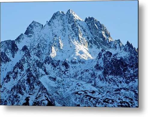 Scenics Metal Print featuring the photograph Mountain by Yorkfoto