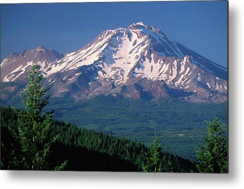 Toughness Metal Print featuring the photograph Mt Shasta Across Lake Siskiyou, Mt by John Elk Iii
