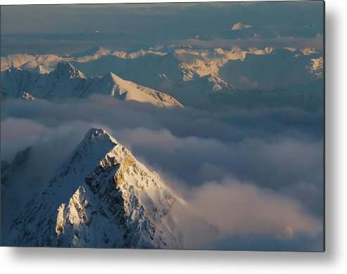 Scenics Metal Print featuring the photograph Mt. Zugspitze 6 - Bavaria Germany by Wingmar