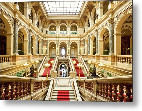 Steps Metal Print featuring the photograph Museum In Prague by Nikada