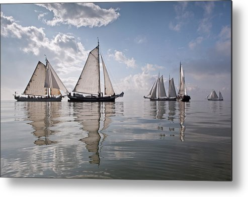North Holland Metal Print featuring the photograph Netherlands, Race Of Traditional by Frans Lemmens