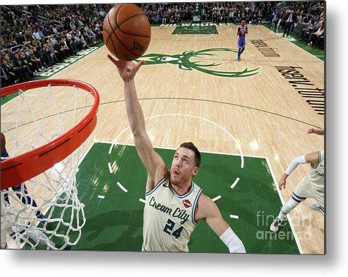 Nba Pro Basketball Metal Print featuring the photograph New York Knicks V Milwaukee Bucks by Gary Dineen