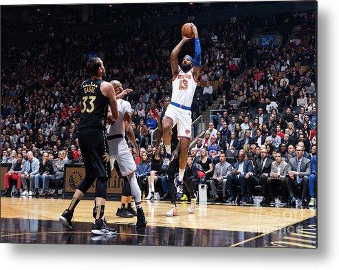 Nba Pro Basketball Metal Print featuring the photograph New York Knicks V Toronto Raptors by Mark Blinch