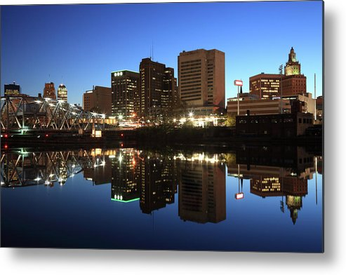 Clear Sky Metal Print featuring the photograph Newark, New Jersey by Jumper
