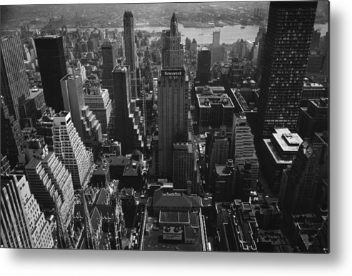 Architectural Feature Metal Print featuring the photograph Newsweek Building by William Lovelace