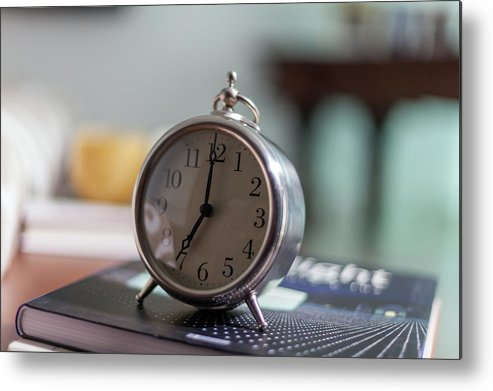 Madrid Metal Print featuring the photograph Old Alarm Clock by Julio Lopez Saguar