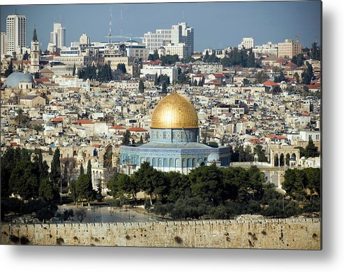 Scenics Metal Print featuring the photograph Old City Of Jerusalem by Claudiad