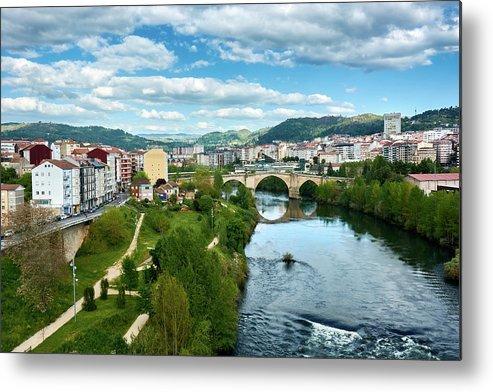 Ourense Metal Print featuring the photograph Ourense And The Roman Bridge From The Millennium Bridge by Eduardo Accorinti
