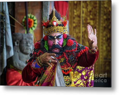 Event Metal Print featuring the photograph Patih, A Character In Barongan Dance by Shaifulzamri