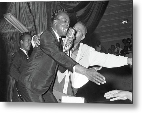 Wilson Pickett Metal Print featuring the photograph Performing At The Harlem Armory by Michael Ochs Archives