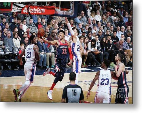 Nba Pro Basketball Metal Print featuring the photograph Philadelphia 76ers V Washington Wizards by Stephen Gosling