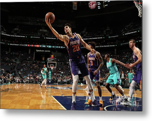 Nba Pro Basketball Metal Print featuring the photograph Phoenix Suns V Charlotte Hornets by Brock Williams-smith