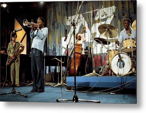 Music Metal Print featuring the photograph Photo Of Jazz Messengers And Art Blakey by Andrew Putler