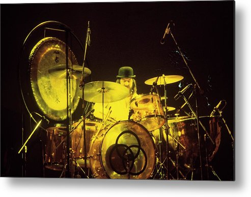 Led Zeppelin Metal Print featuring the photograph Photo Of John Bonham And Led Zeppelin by Steve Morley