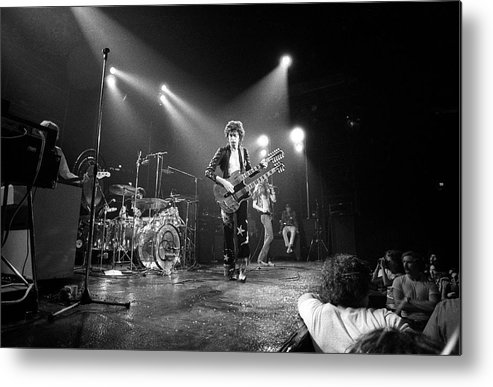 Led Zeppelin Metal Print featuring the photograph Photo Of Led Zeppelin And Robert Plant by David Redfern