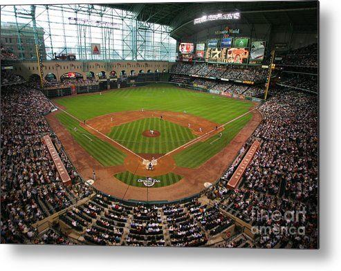 Scenics Metal Print featuring the photograph Pittsburgh Pirates V Houston Astros by Stephen Dunn