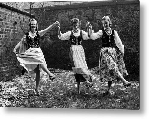 1950-1959 Metal Print featuring the photograph Polish Dance by Bert Hardy