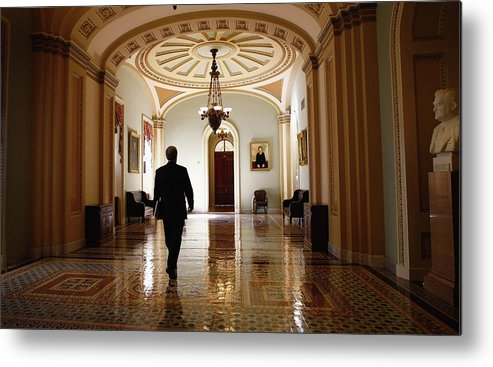 Chairperson Metal Print featuring the photograph Political Battle For Health Care Reform by John Moore
