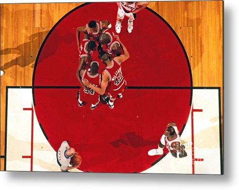 Nba Pro Basketball Metal Print featuring the photograph Portland Trailblazers Vs. Chicago Bulls by Brian Drake