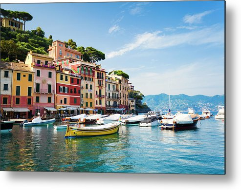 Water's Edge Metal Print featuring the photograph Portofino, Liguria, Italy by Brzozowska