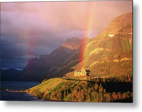 Scenics Metal Print featuring the photograph Prince Of Wales Hotel, At The End Of A by John Elk