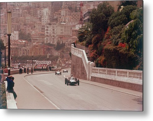 People Metal Print featuring the photograph Racing Cars On The Road Track At The by Heritage Images
