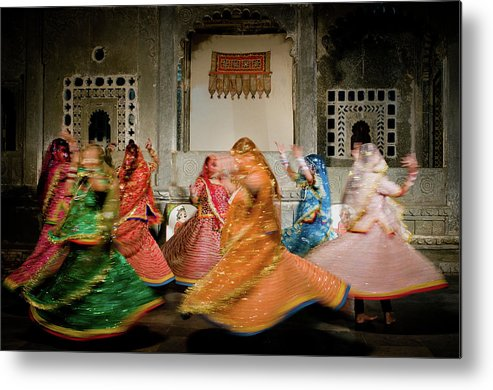People Metal Print featuring the photograph Rajasthani Dances by Ania Blazejewska