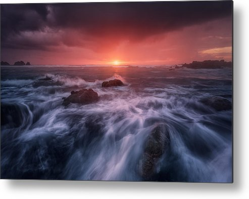 Sea Metal Print featuring the photograph Reira by Carlos F. Turienzo