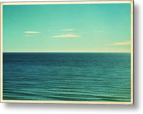 Scenics Metal Print featuring the photograph Retro Seascape Postcard by Farukulay
